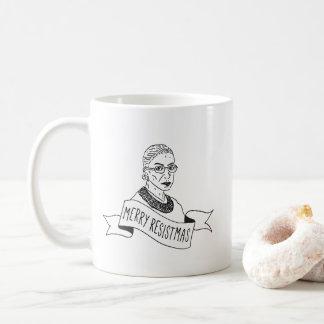 Caneca alegre de Ruth Bader Ginsburg Resistmas