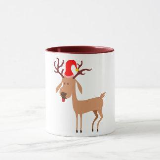 Caneca Alegria dos feriados do Natal da rena