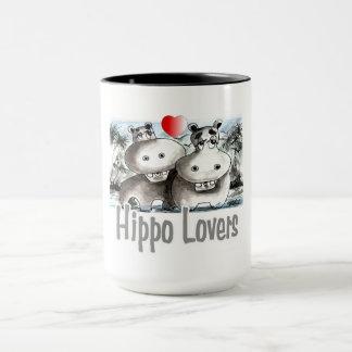 Caneca Amantes do hipopótamo