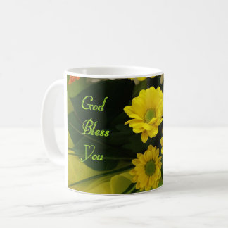 Caneca amarela das flores