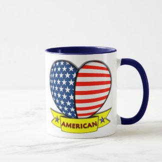 Caneca americana do coração
