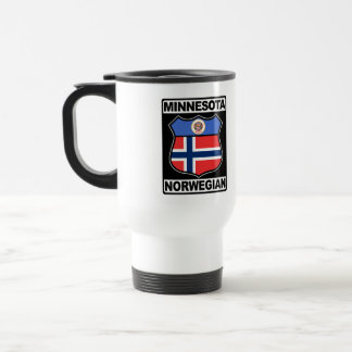 Caneca americana norueguesa da viagem ao trabalho