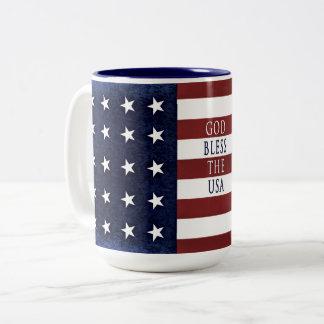 Caneca americana patriótica - BANDEIRA dos EUA