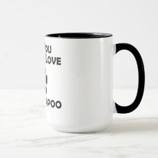 Caneca Amor e um Cockapoo