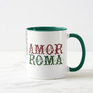 Caneca Amor Roma com laço verde