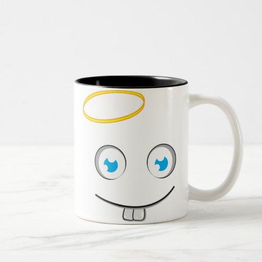 Caneca angélico do chá do sorriso da expressão