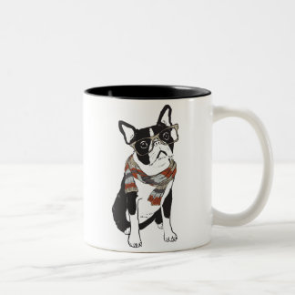 Caneca animal do cão de Boston Terrier do hipster