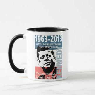 Caneca Aniversário 1963 - 2013 do homicídio de JFK