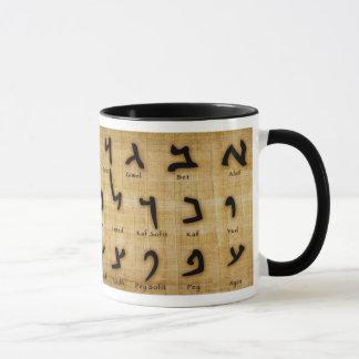 Caneca antiga hebréia da aposta de Alef