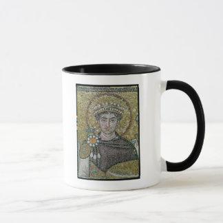 Caneca ANÚNCIO justiniano do imperador I c.547