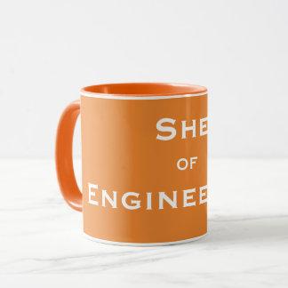 Caneca Apelido fêmea engraçado do engenheiro - ela da