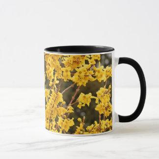 Caneca Arbusto dourado bonito do Forsythia