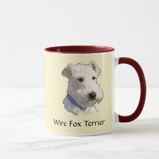 Caneca Arte do Fox Terrier do fio