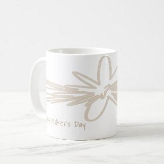 Caneca artística do design do dia das mães feliz