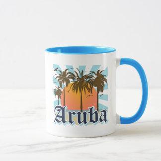 Caneca Aruba encalha o por do sol