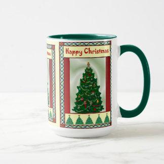Caneca Árvore de Natal, Natal feliz