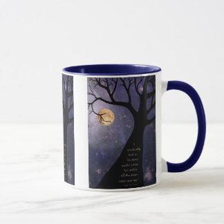 Caneca Árvores desencapadas da Lua cheia