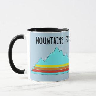 Caneca As montanhas satisfazem-no e agradecem-n a agredir