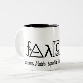 Caneca ateu do café do grupo de FAACT