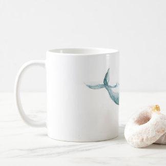 Caneca ausente nadadora da baleia da aguarela