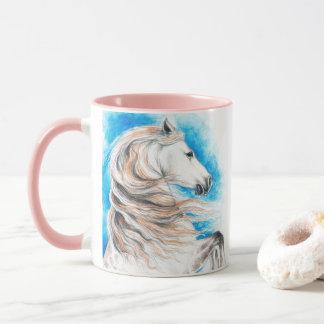 Caneca Azul andaluz do cavalo