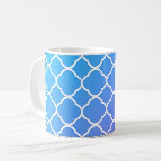 Caneca azul & branca feminino do chá do café de