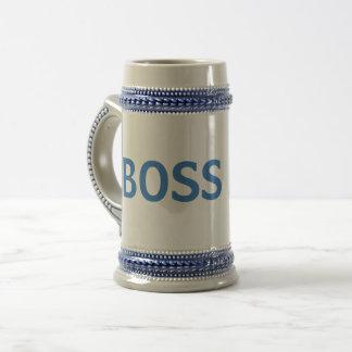 Caneca azul/cinzenta do chefe
