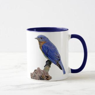 Caneca azul do anel do BlueBird