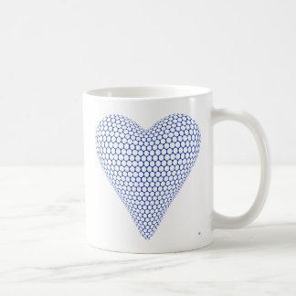 Caneca azul do coração 3D