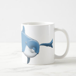 Caneca azul do golfinho