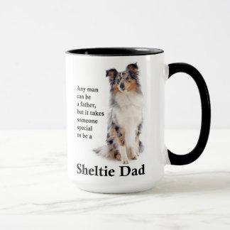 Caneca azul do pai de Merle Sheltie