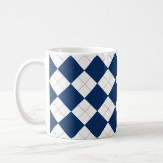 Caneca azul e branca de Argyle