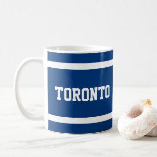 Caneca azul e branca de Toronto