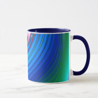 Caneca Azul líquido de roda do vidro (2) profundamente