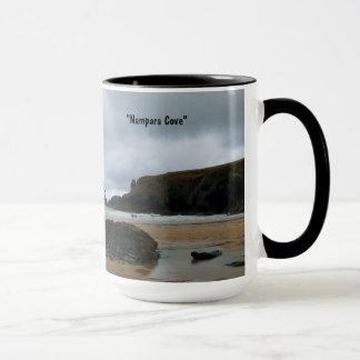 Caneca Baía Cornualha Inglaterra de Porthcothan da angra