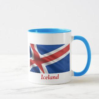 Caneca Bandeira de Islândia