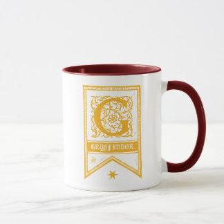 Caneca Bandeira do monograma de Harry Potter | Gryffindor