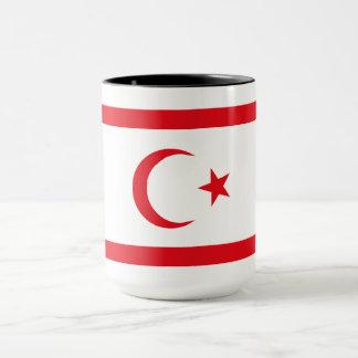 Caneca Bandeira do norte de Chipre