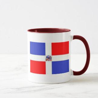 Caneca Bandeira dominiquense, bandeira dominiquense