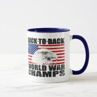 Caneca Bandeira dos E.U. & campeões afligidos da guerra