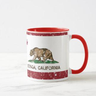 Caneca Bandeira Moraga da república de Califórnia