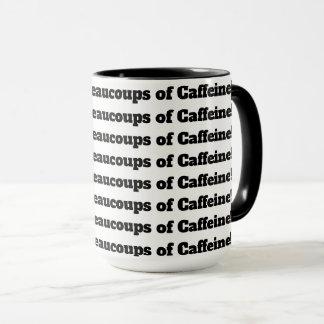 Caneca Beaucoups e Beaucoups da cafeína!