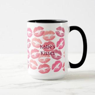 Caneca Beijos de Lotsa nas máscaras do rosa