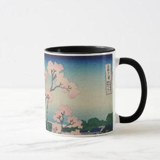 Caneca Belas artes do japonês de Hokusai do monte de