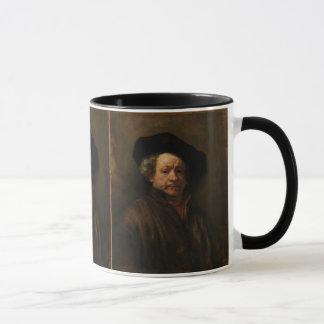 Caneca Belas artes do retrato de auto de Rembrandt Van