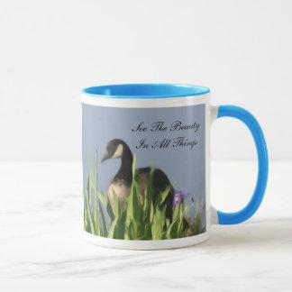 Caneca Beleza do ganso de Canadá inspirada