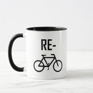 Caneca Bicicleta da bicicleta do reciclar