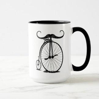 Caneca Bigode alto antigo do guiador da bicicleta da roda