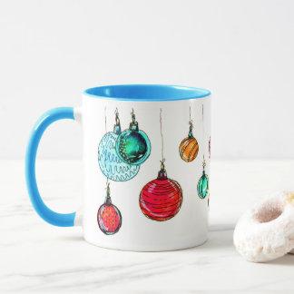 Caneca Bolas coloridos do Natal