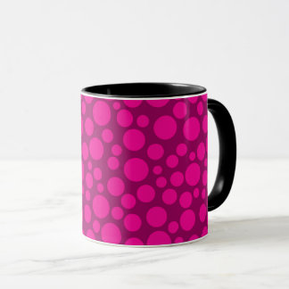 Caneca Bolinhas cor-de-rosa